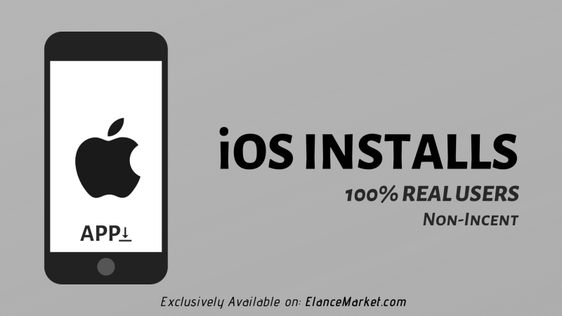 Buy iOS Installs | 100% Real Users | Non-Incent