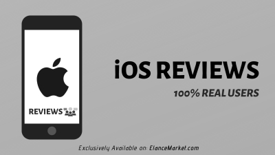 Buy iOS Reviews · Apple App Store · Real Users · Guaranteed