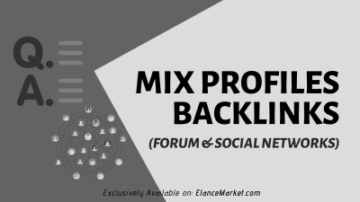 Buy Mix Profiles Backlinks (forum & social networks)
