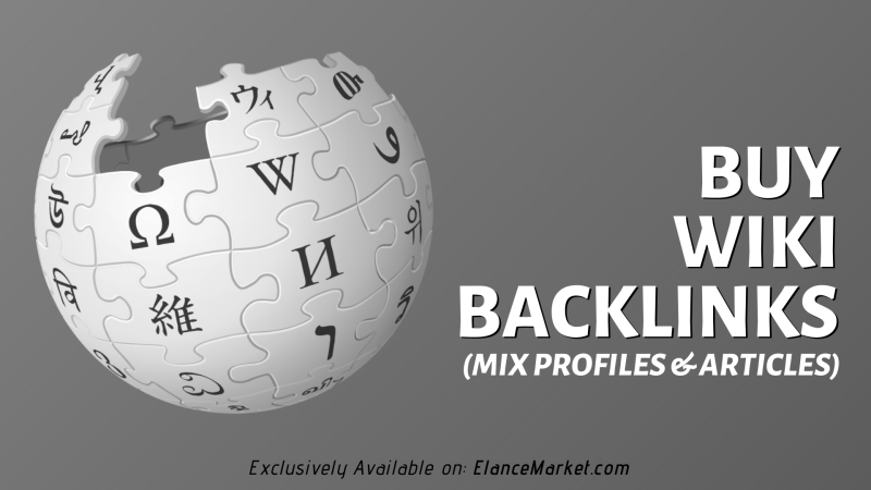 Buy Wiki Backlinks (mix profiles & articles)