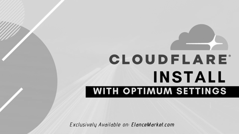 Install Cloudflare CDN with Optimum Settings