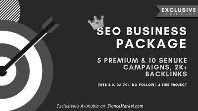 SEO Business Package: 5 Premium & 10 SEnuke Campaigns, 2K+ Backlinks (Web 2.0, DA 70+, Do-Follow), 3 Tier Project