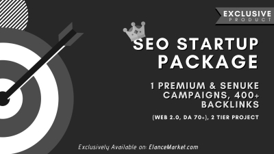 SEO Startup Package: 1 Premium & SEnuke Campaigns, 400+ Backlinks (Web 2.0, DA 70+), 2 Tier Project