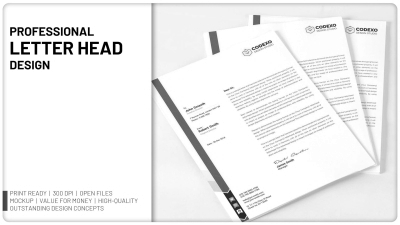 Will design Professional Letter Head
