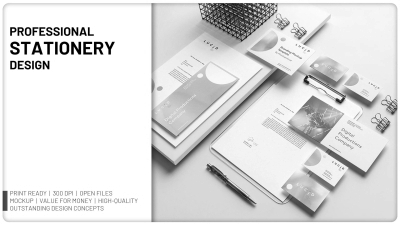 Will design Professional Stationery and Branding Collaterals