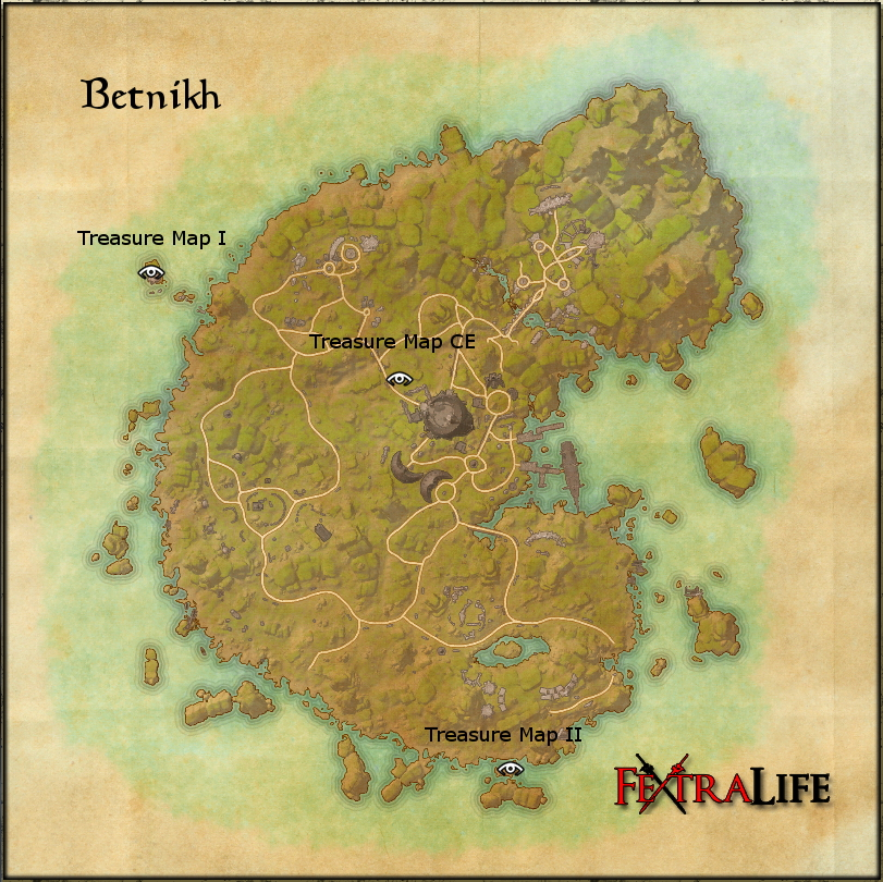 Betnikh Treasure Map II   Elder Scrolls Online Wiki betnikh treasure maps jpg