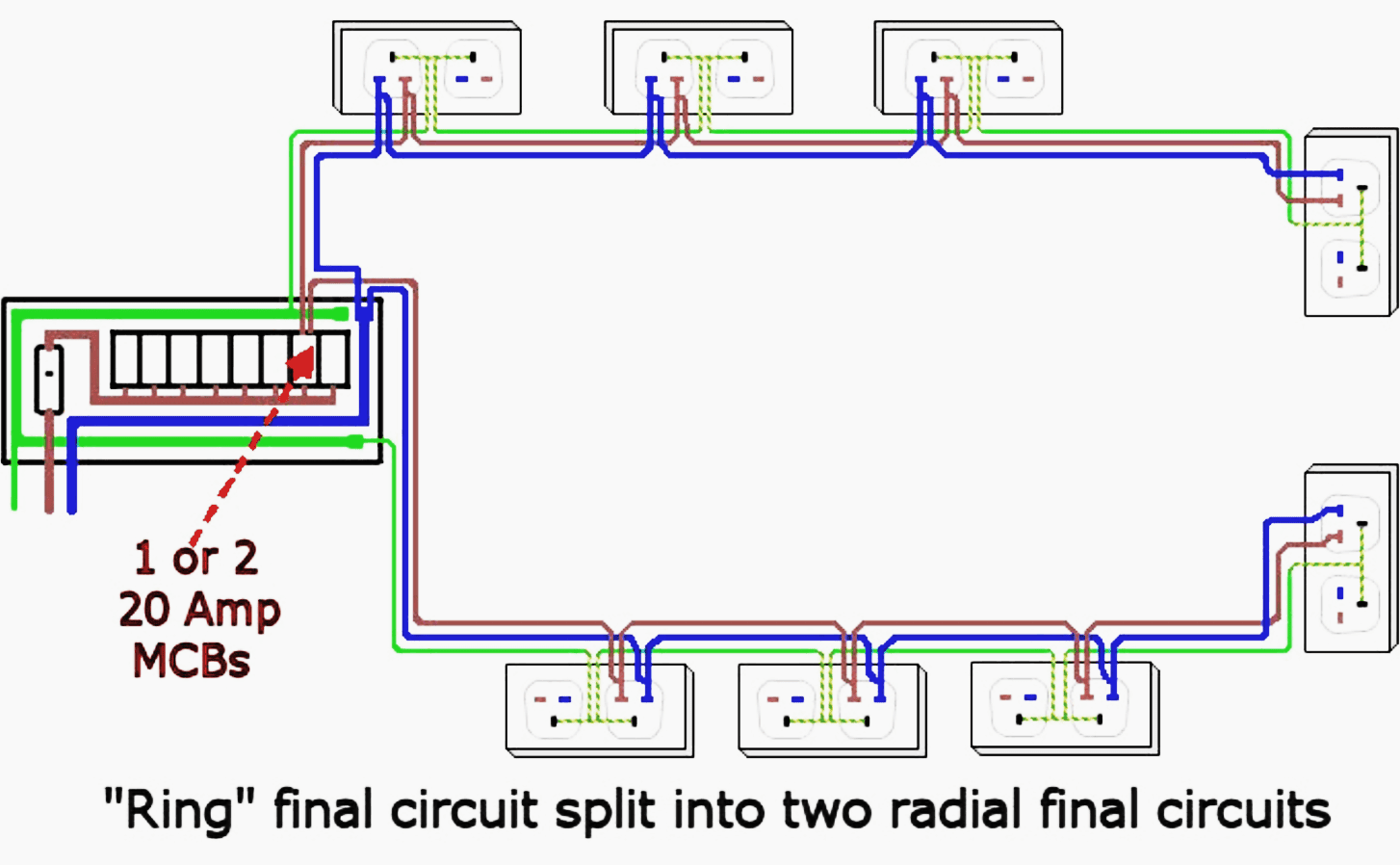 Light Switch Middle Circuit Wiring A In The Of