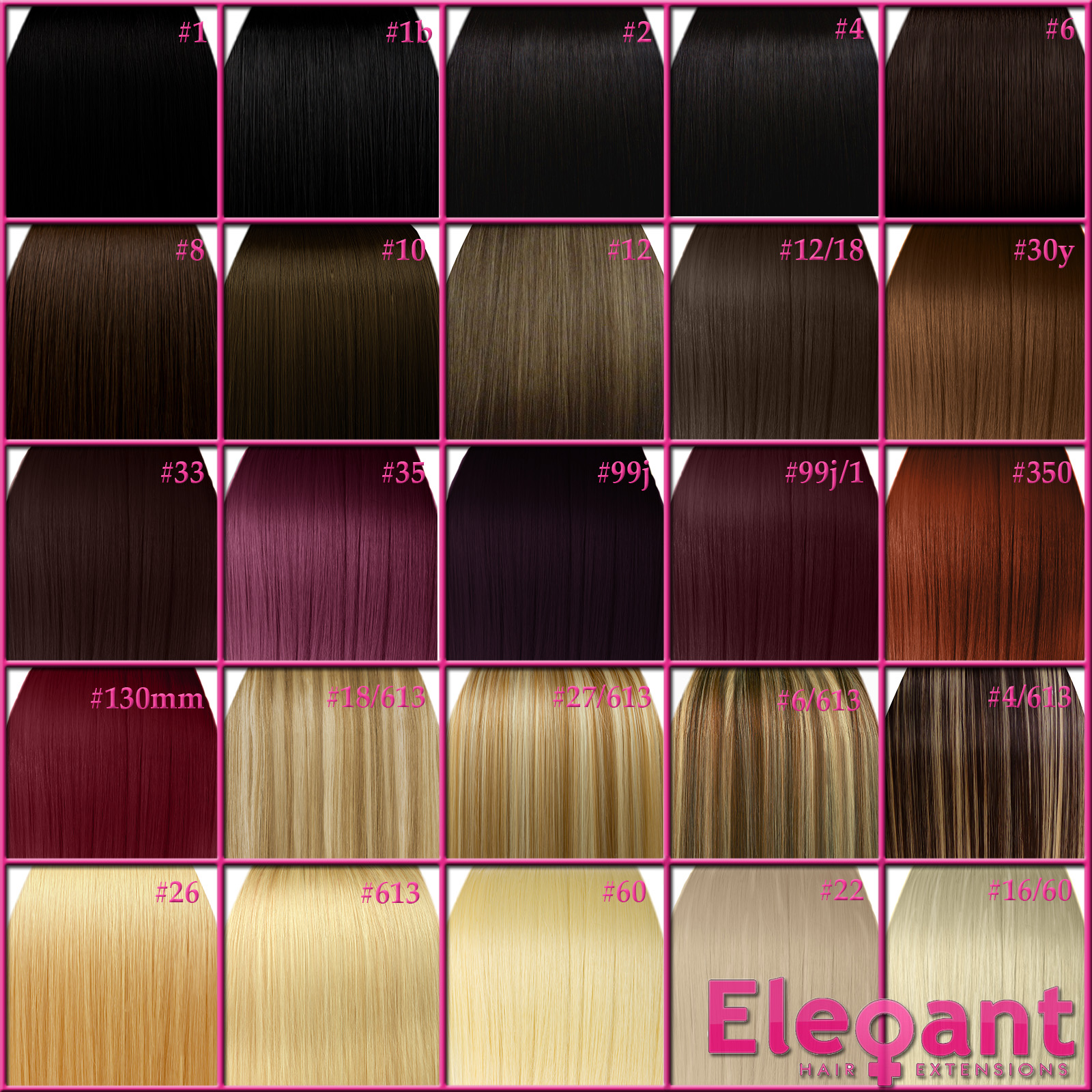 Kanekalon Hair Color Chart