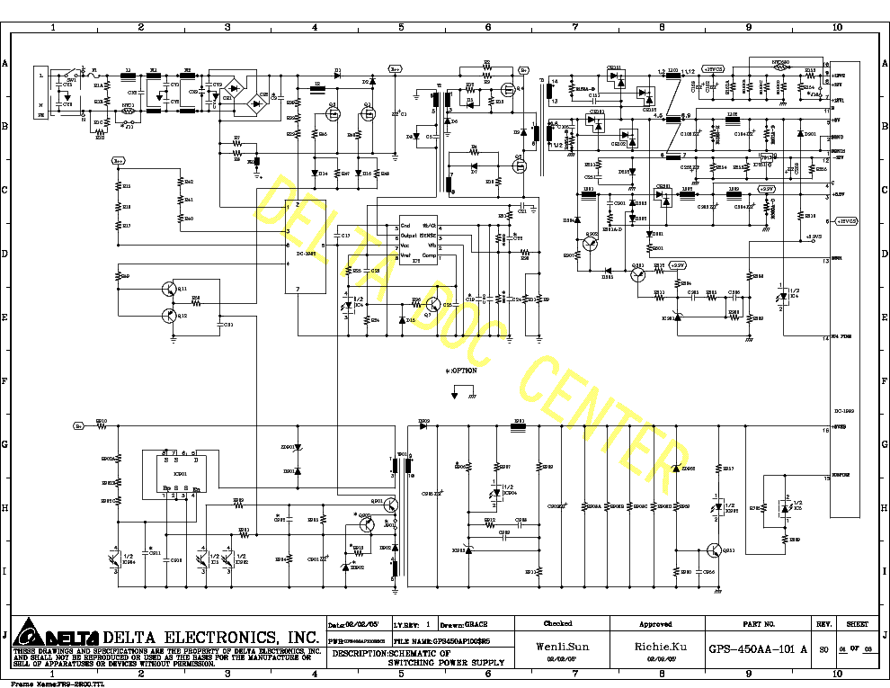 Fancy Schematic Switching Power Supply Atx 500w Illustration ...