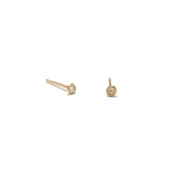 yellow gold white diamond seedling studs