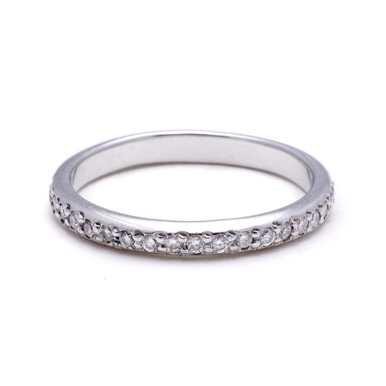 Platinum Womens Wedding Band Diamonds