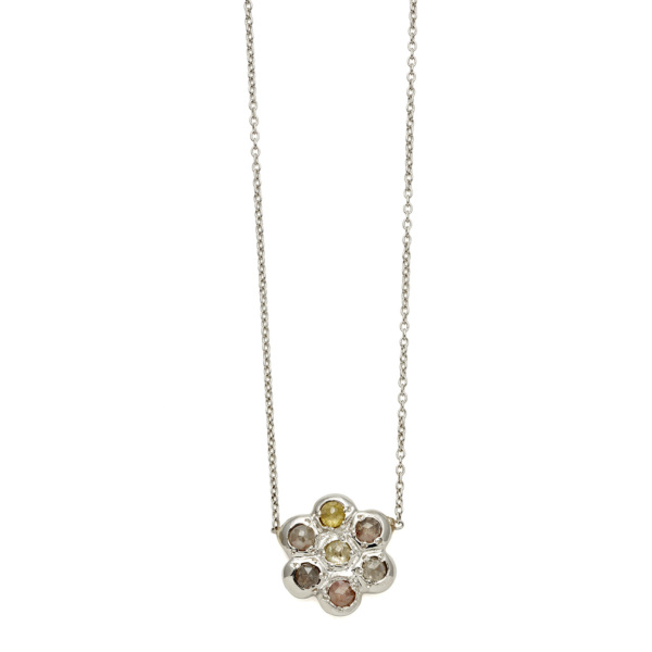 Elisa Solomon - Platinum Flower Necklace