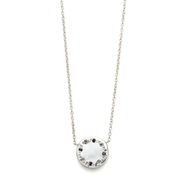 Elisa Solomon - Sterling Silver Blues Circle Necklace