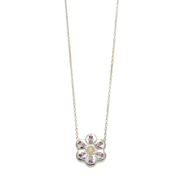 Elisa Solomon - Sterling Silver Flower Necklace