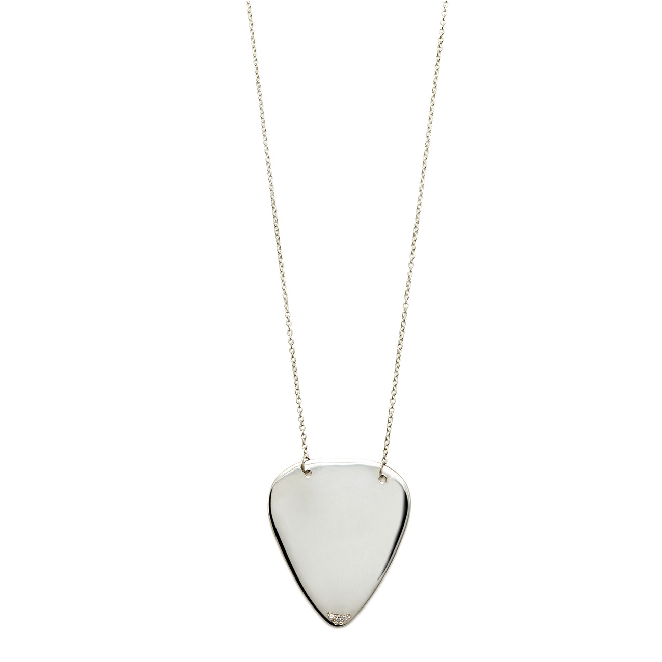 Sterling silver guitar pick necklace elisa solomon jewelry elisa solomon sterling silver guitar pick necklace mozeypictures Image collections