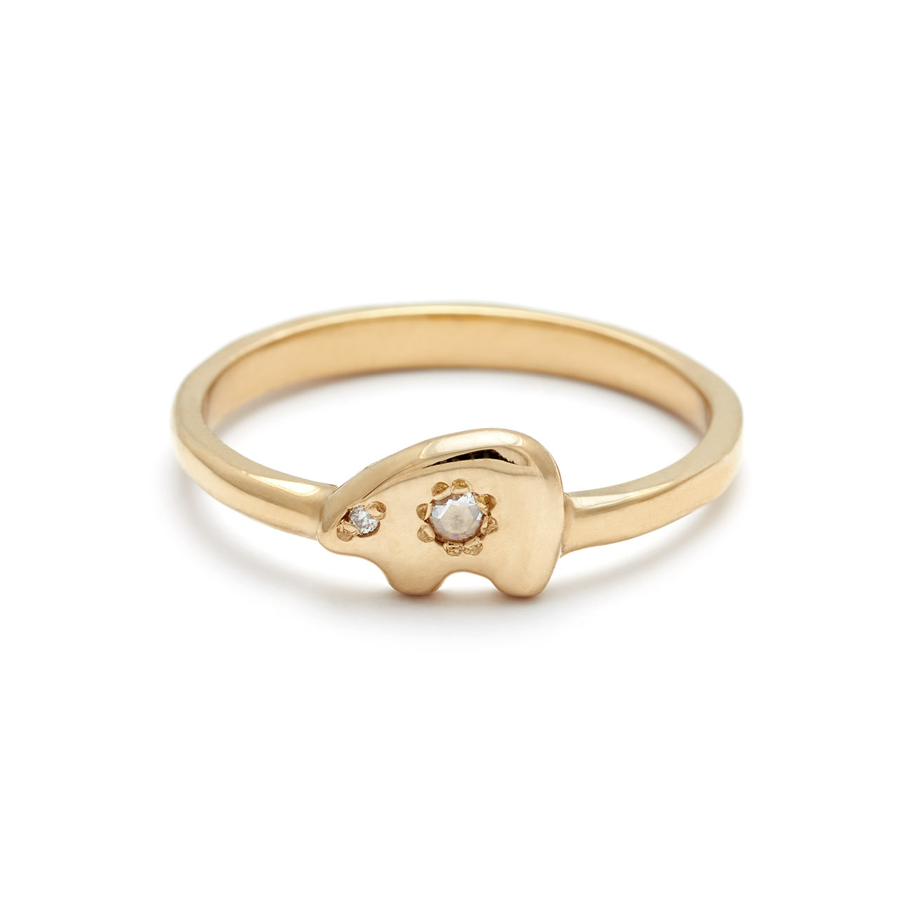 yellow gold ring elisa solomon jewelry