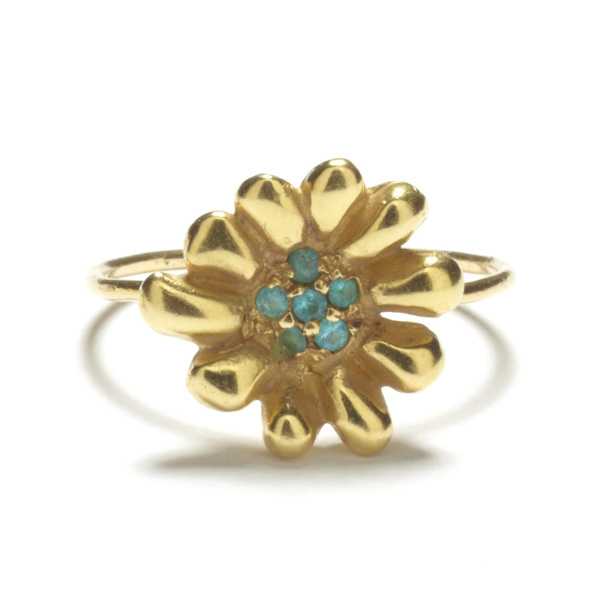 Yellow Gold Daisy Ring