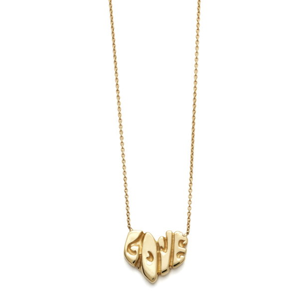 Elisa Solomon - Yellow Gold Love Heart Necklace