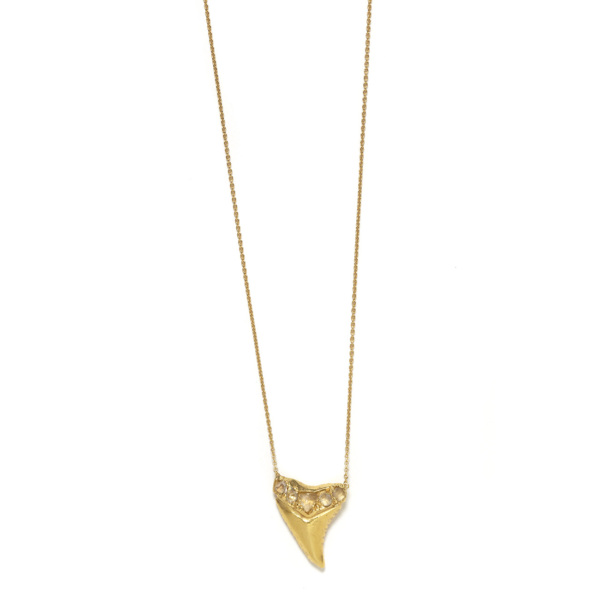 Elisa Solomon - Yellow Gold Shark Tooth Necklace
