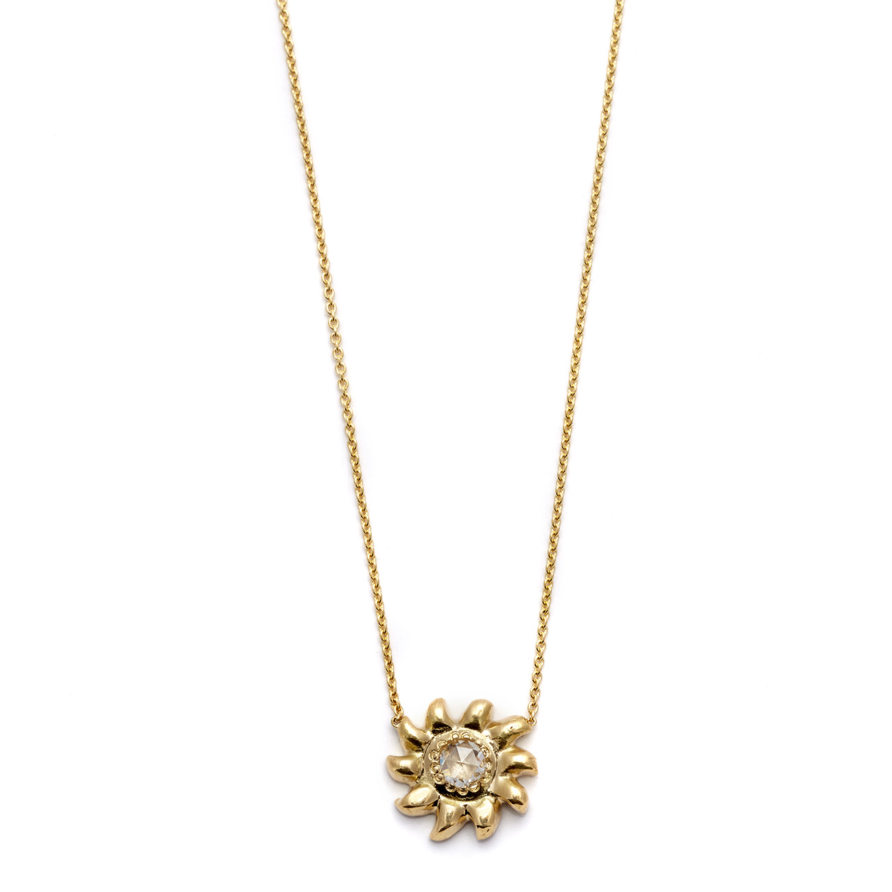 Elisa Solomon - Yellow Gold Sun Necklace