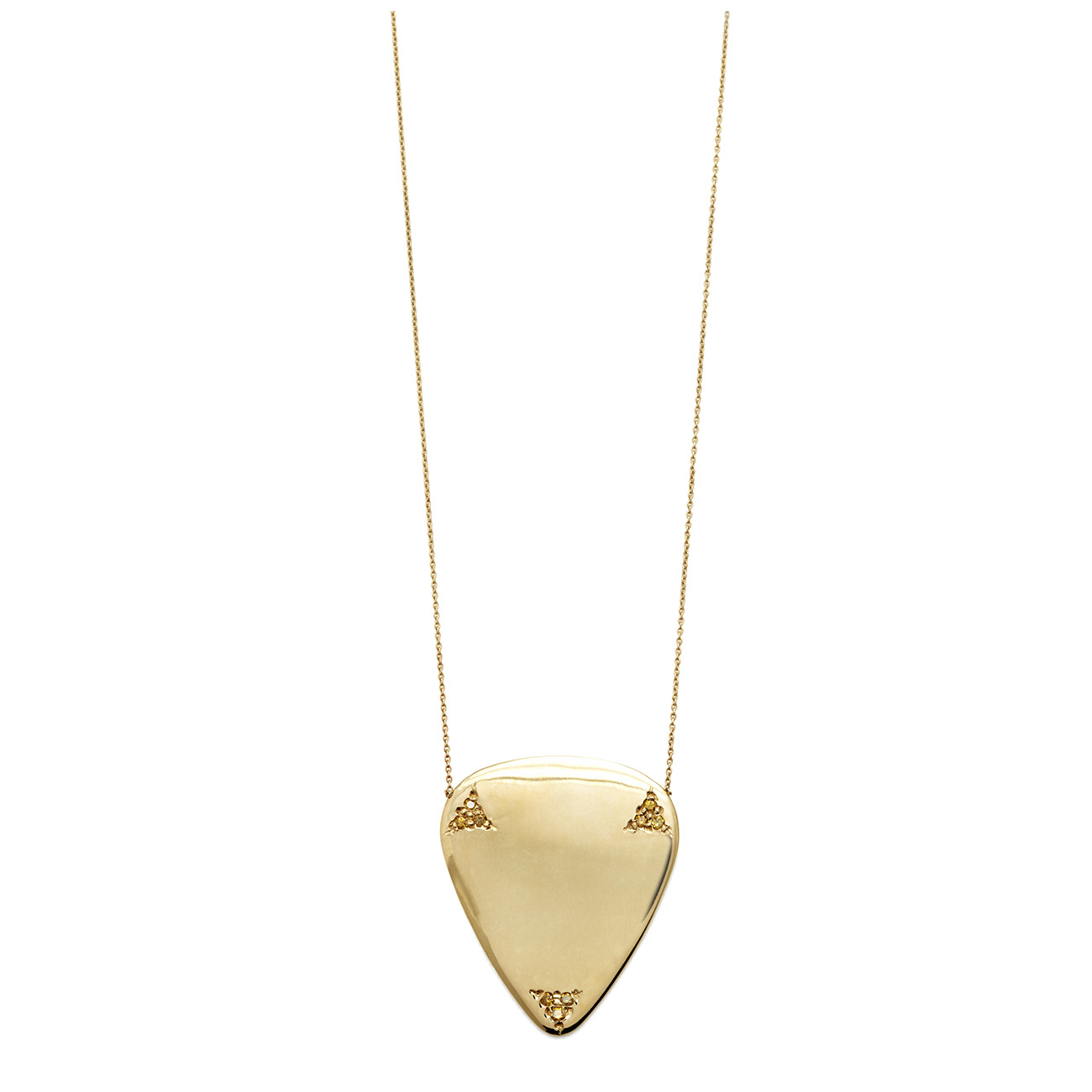 Yellow diamond guitar pick necklace elisa solomon jewelry mozeypictures Choice Image