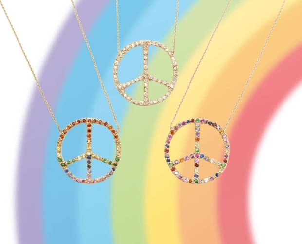 Peace Sign Necklaces - Peace and Love - Elisa Solomon Jewelry
