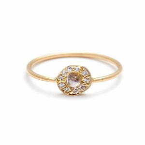 Yellow-Gold-Moonstone-Diamond-Disk-Ring