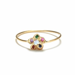Yellow-Gold-Rainbow-Newflower-Ring