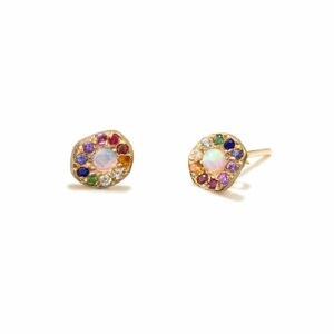 yellow-gold-opal-rainbow-disk-studs