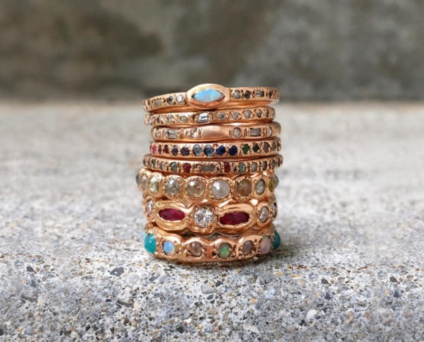 Yummy Gold Wedding Rings - Elisa Solomon Jewelry
