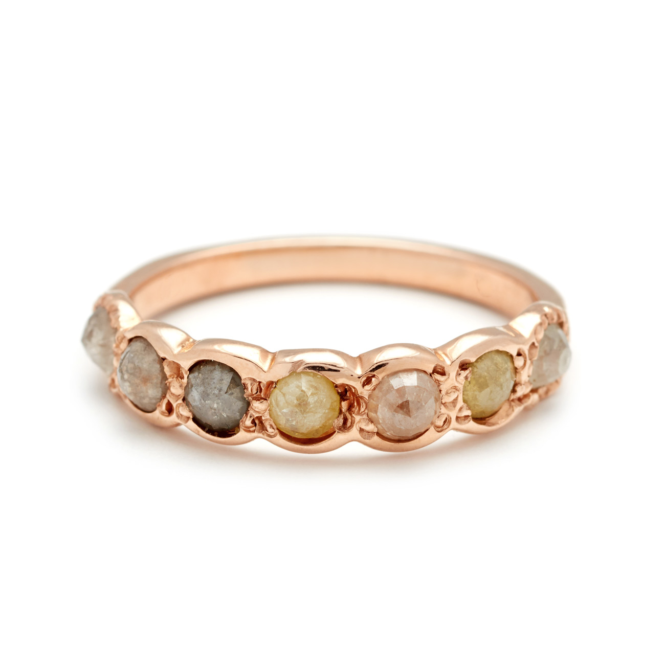 Pink-Gold-Lucky-Seven-Multicolor-Rosecut-Diamond-Band-elisa-solomon