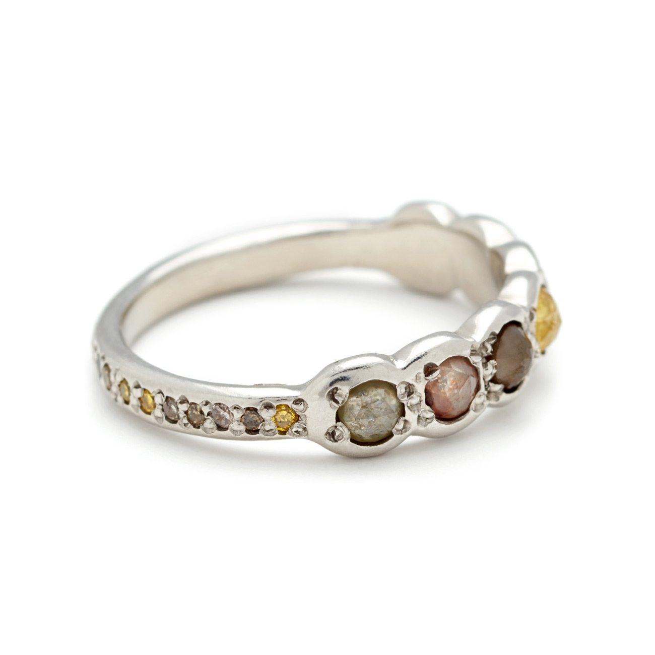 Platinum-Lucky-Seven-Multicolor-Rosecut-Diamond-Band-sideview-elisasolomon