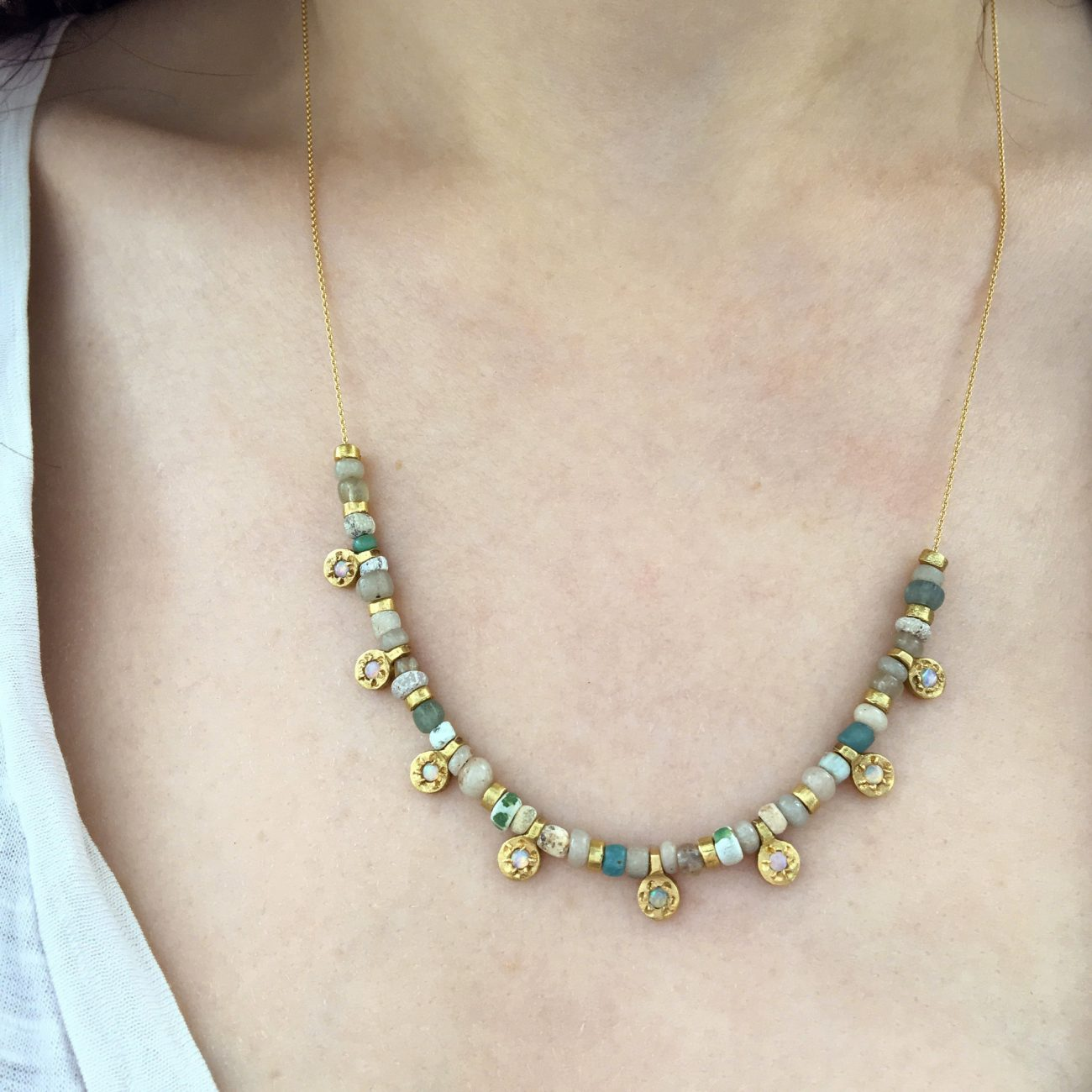 Yellow-Gold-Opal-Baby-Peace-Charm-Necklace-opal-side