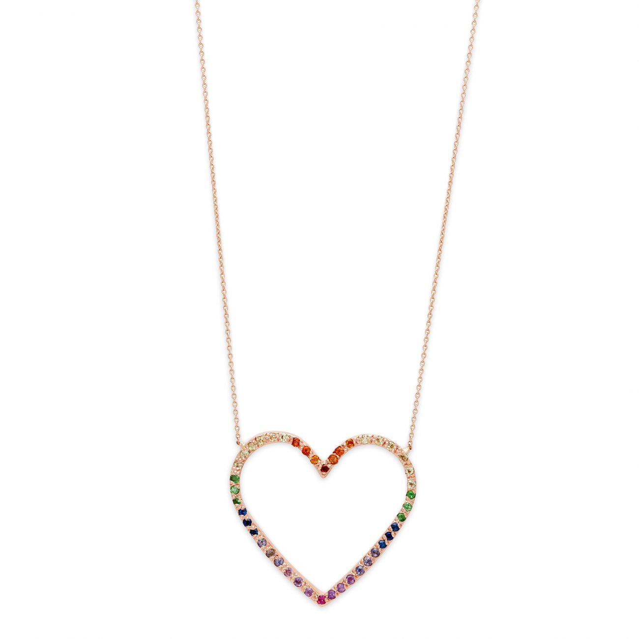 Necklace_PGoldLargeRainbowOpenHeart