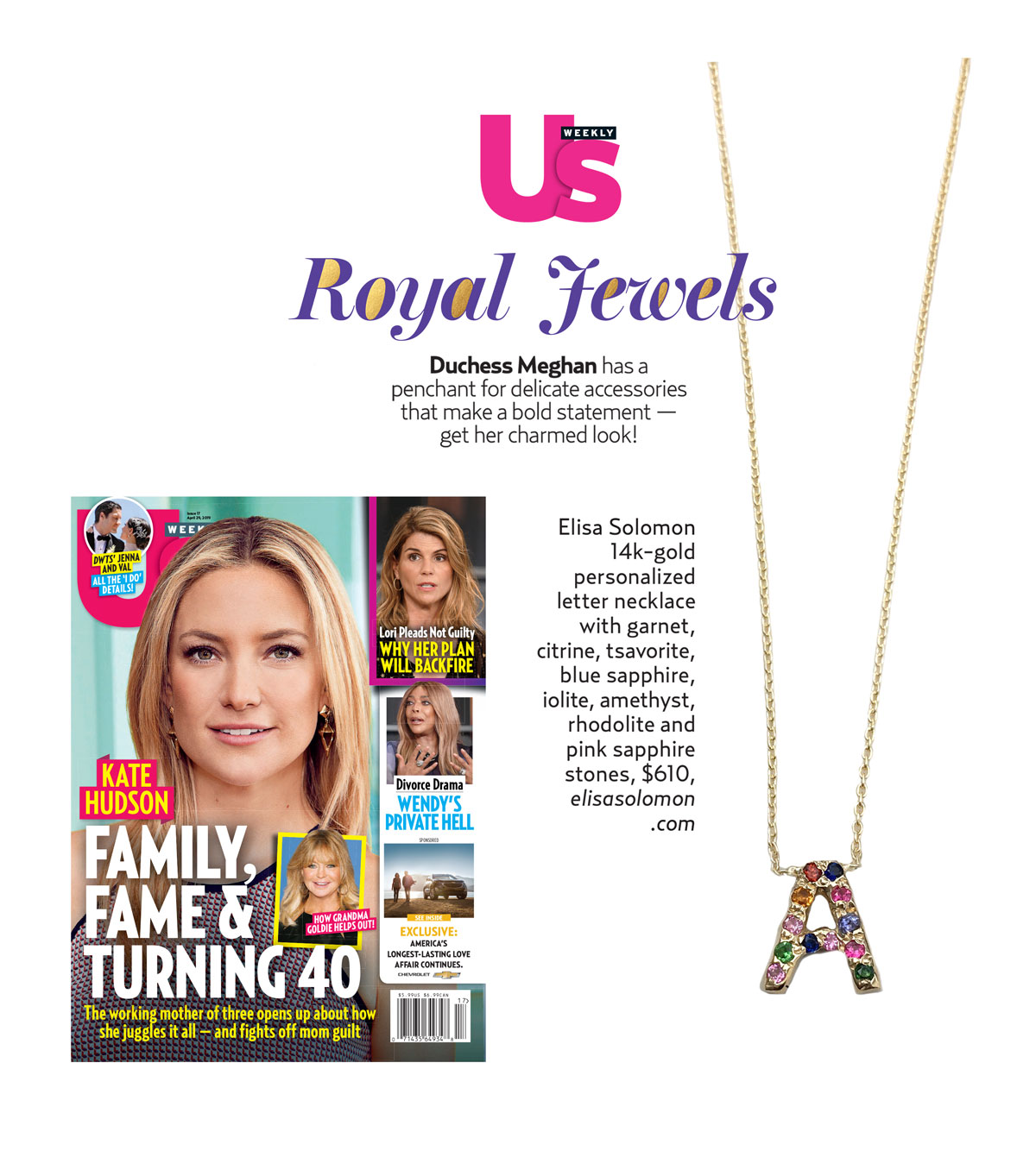 Boho Necklace in US Weekly April 2019