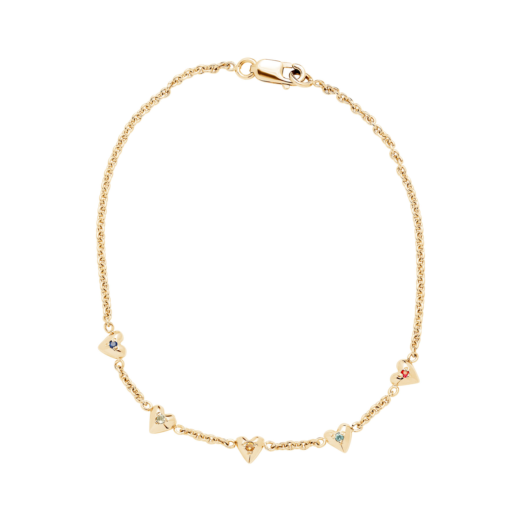 teeny tiny heart bracelet yellow gold