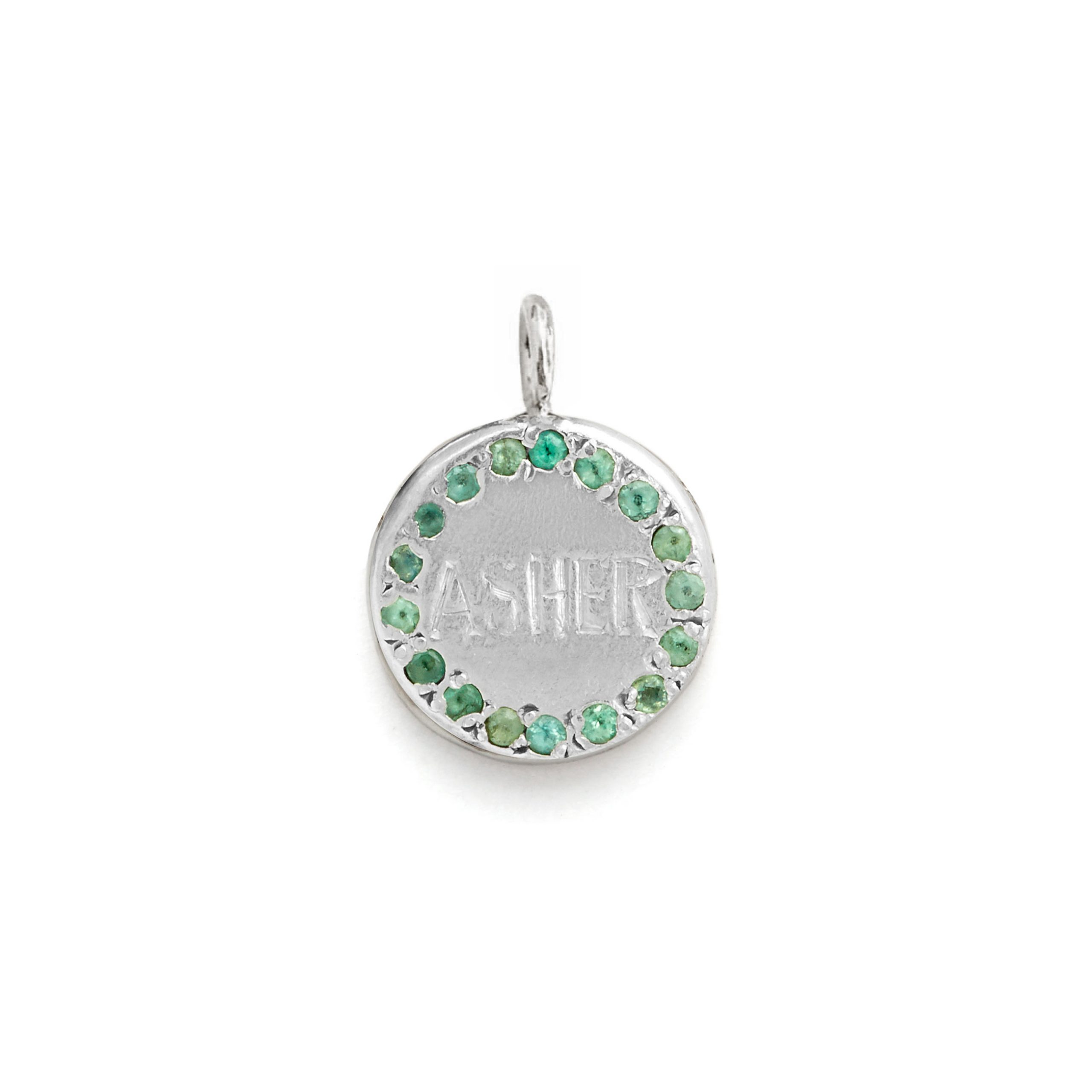 Circle Charm Jewel Collection - 14k White Gold 02