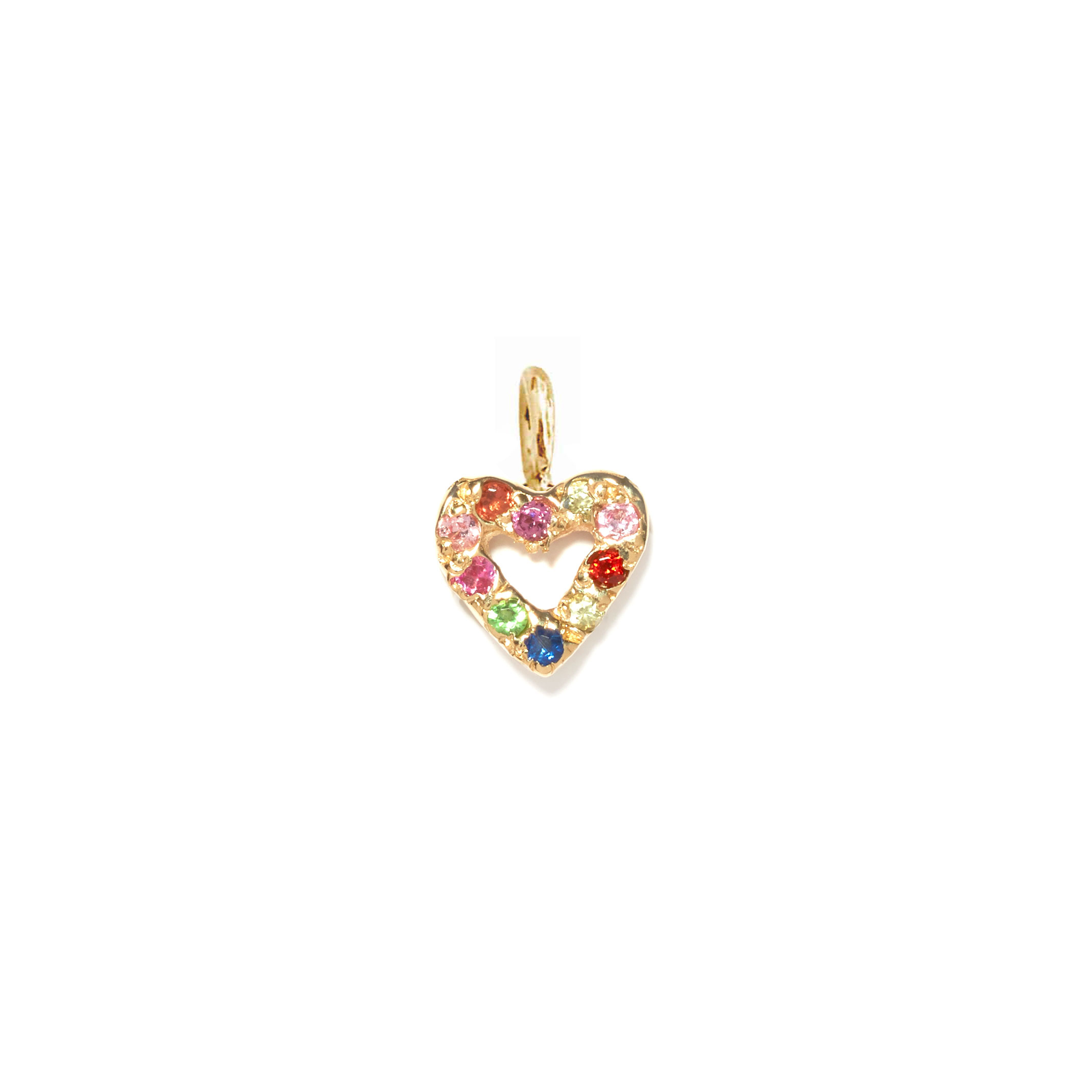 Heart Charm Jewel Collection 14k Yellow Gold