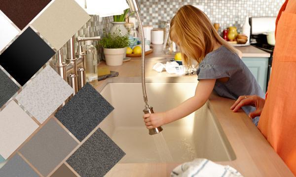 Red Granite Countertops Kitchen
