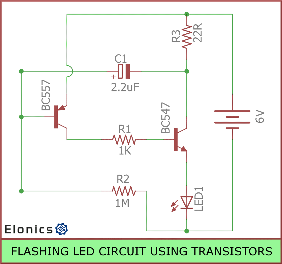 A Simple Led Circuit On Breadboard Blinking Leds