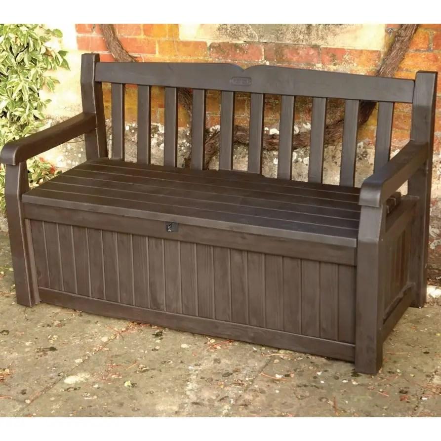 Iceni Storage Bench Brown 17190198 Garden Furniture