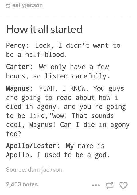 Percy Jackson Jokes Amp Headcanons How It All Started
