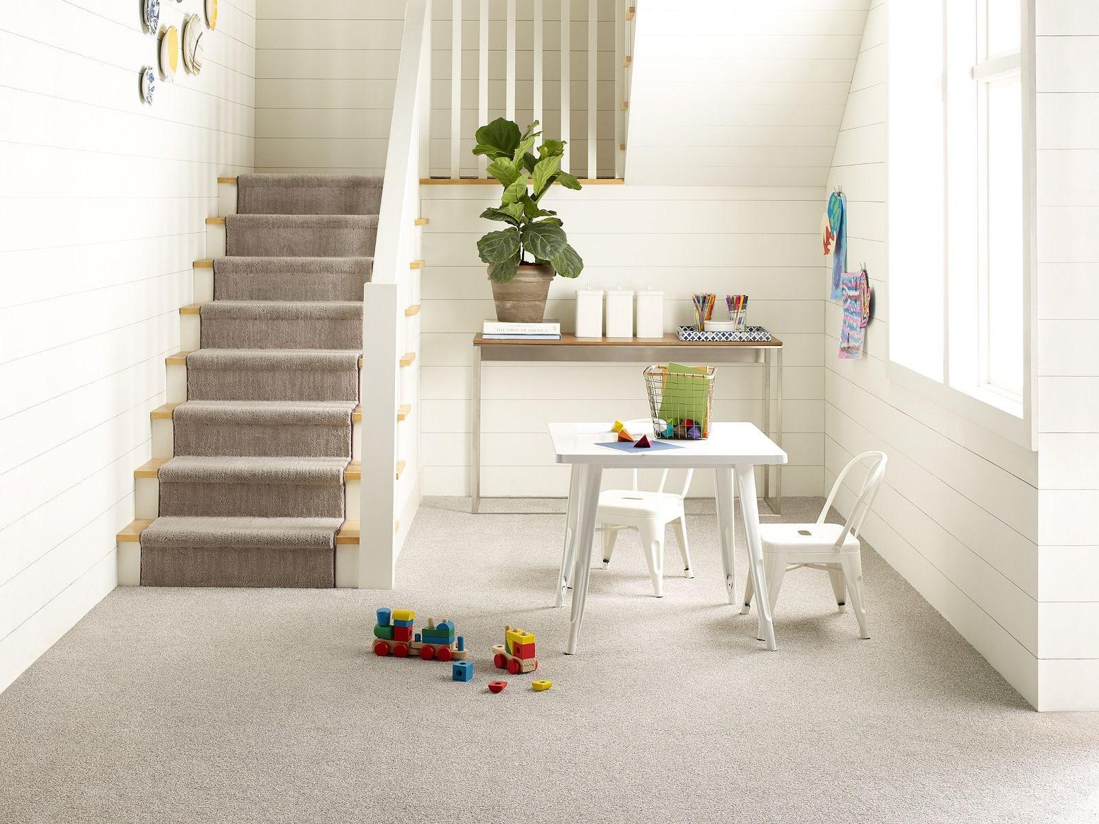 Carpet Carpeting Berber Texture More Shaw Floors | Carpet Squares For Steps | Kajaria Staircase | Stair Runner | Dean Wrap Around Treads | Communal Stairway | Flower Design