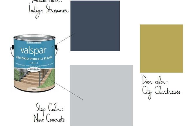 Diy Painted Concrete Steps Emily A Clark | Painting Outside Concrete Steps