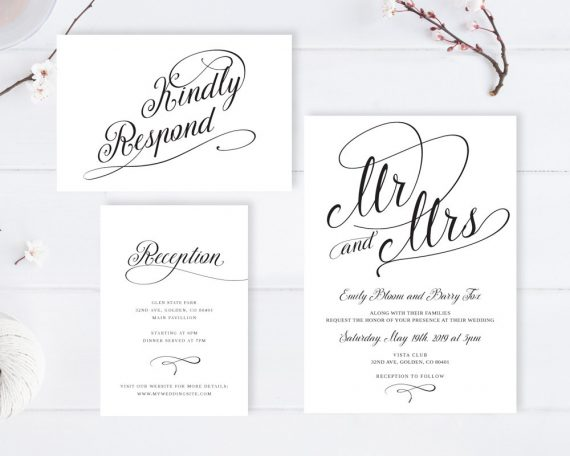 Cheap Invitations Response Cards