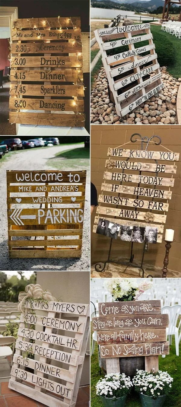 24 Diy Country Wedding Ideas With Pallets To Save Budget Emmalovesweddings