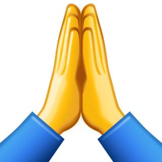 praying hands emoji - 236×236