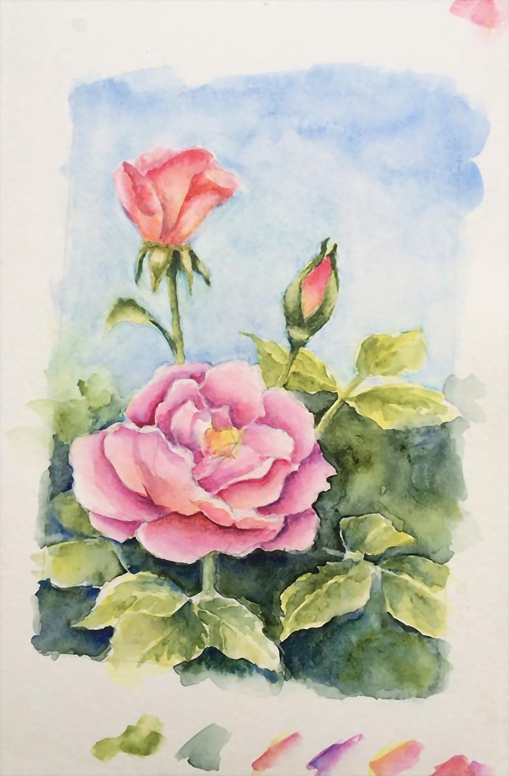 How To Paint Realistic Watercolor Roses