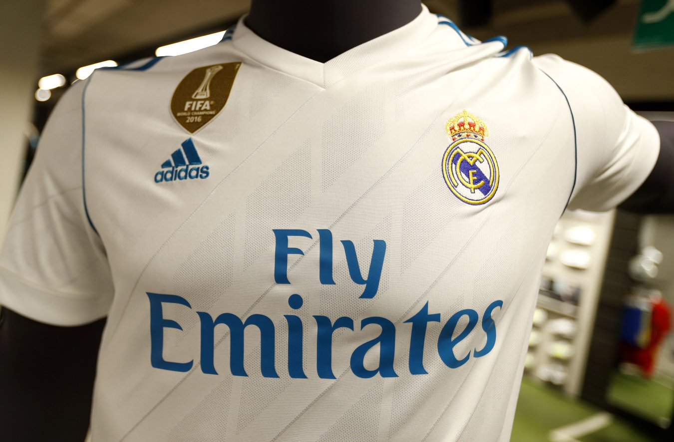 Logo Real Madrid Jersey Blue