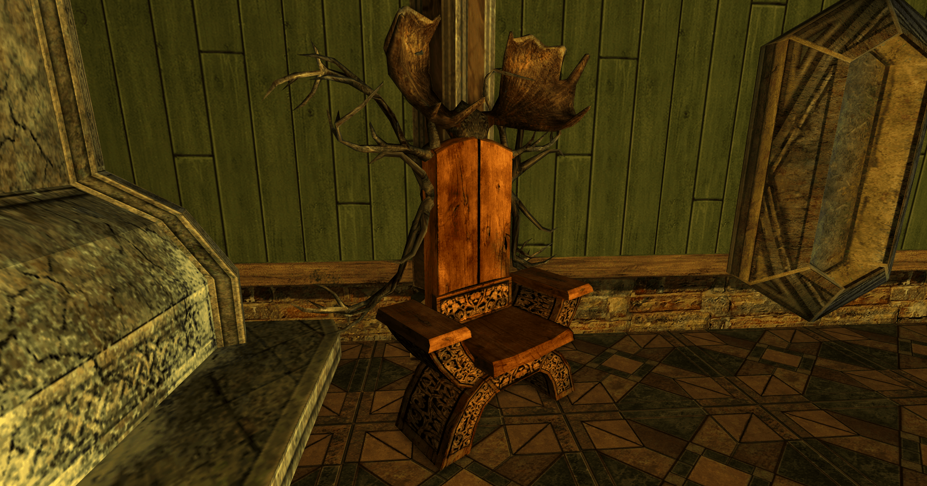 Rohirric Chair with Intricate Antlers